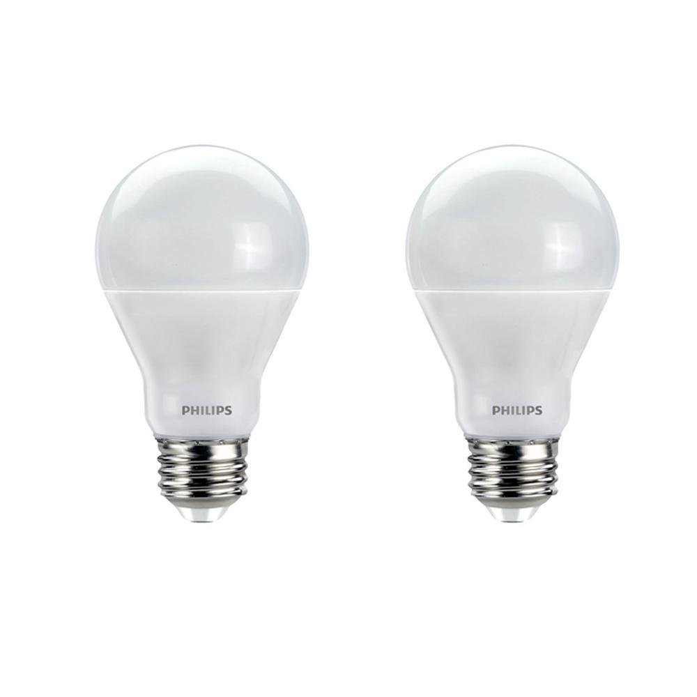 Philips Warm Glow A19 Medium Dimmable LED Light Bulb 536532 2 bulbs