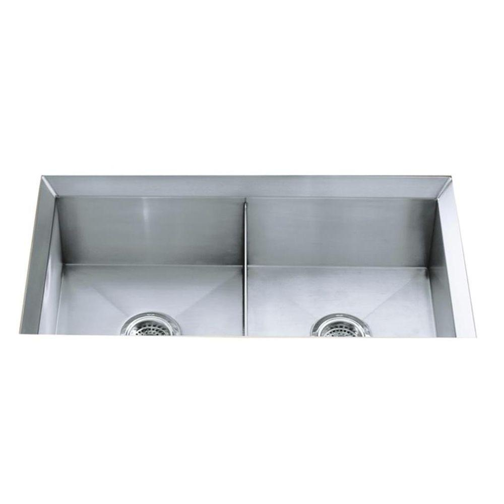 KRAUS Standart PRO 33in. 16 Gauge Undermount 60/40 Double Bowl ...