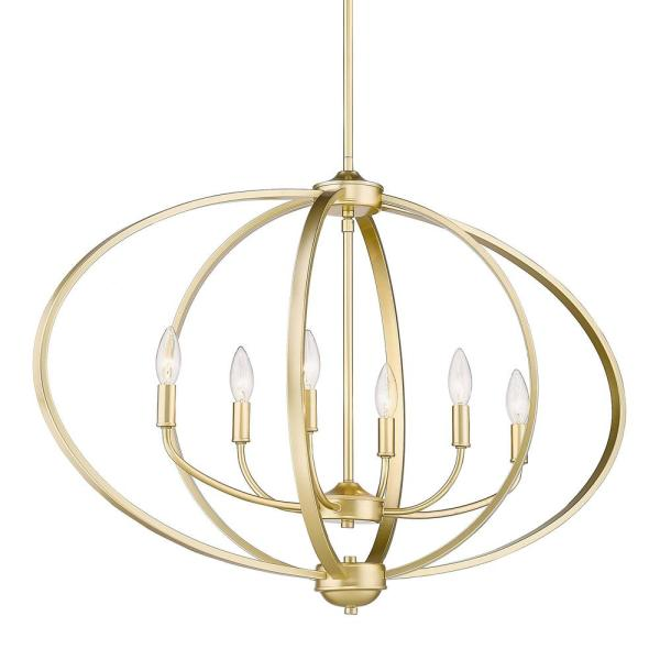 Colson 6-Light Olympic Gold Linear Pendant