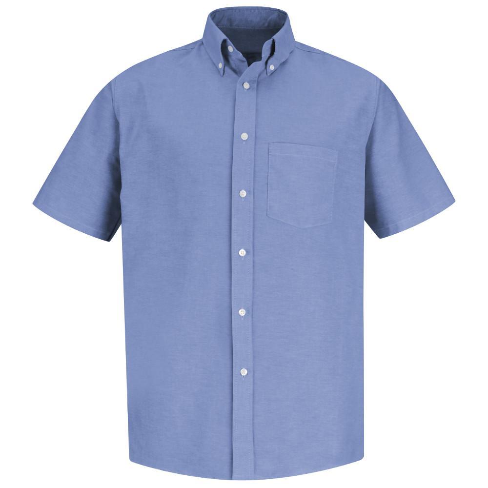 Red Kap Mens Size 165 Light Blue Executive Oxford Dress Shirt