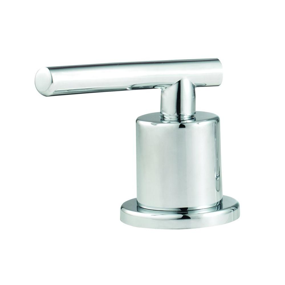 Glacier Bay Bathroom Hot Faucet Replacement Handle In Chrome A66e467hcp The Home Depot