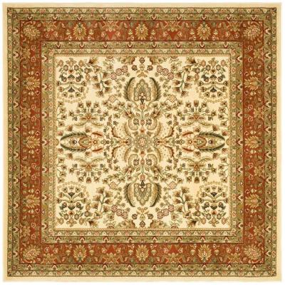 Lyndhurst Ivory/Rust 10 ft. x 10 ft. Square Area Rug