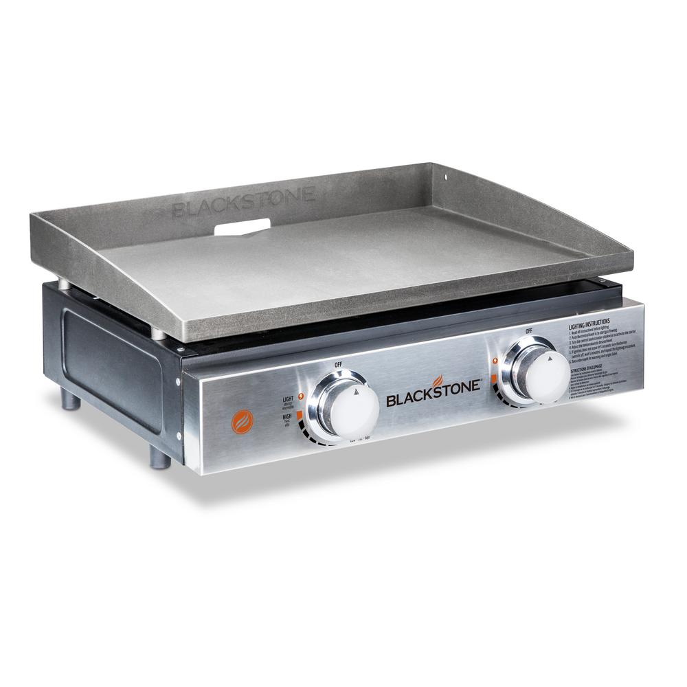Blackstone 22 in. 2-Burner Propane Gas Table Top Griddle in Stainless Steel