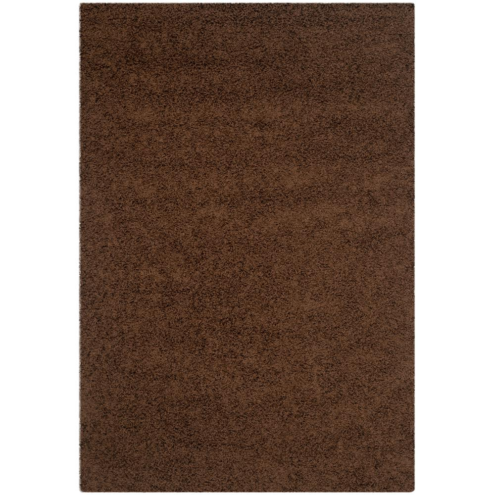 Athens Shag Brown 5 ft. 1 in. x 7 ft. 6