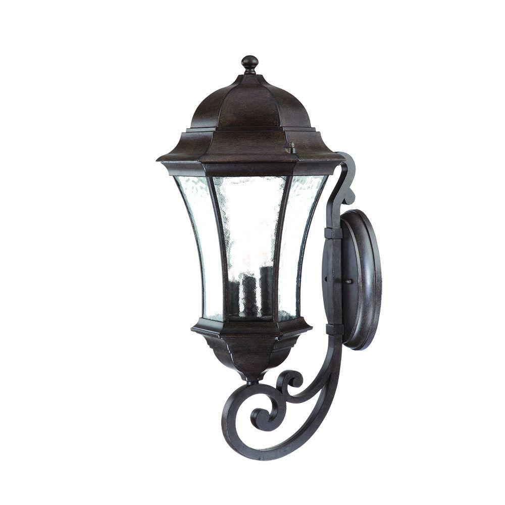 Acclaim Lighting Outdoor Wall Lights Acclaim Lighting Waverly Collection 3-Light Black Coral Outdoor Wall-Mount  Light Fixture