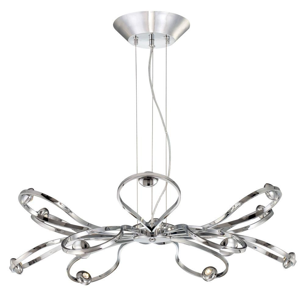 Eurofase Aria Collection 12-Light Chrome LED Pendant-DISCONTINUED