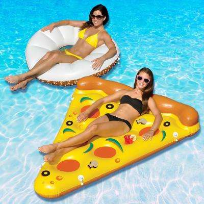 Foodie Fun Pretzel and Bagel Swimming Pool Float Combo Value Pack