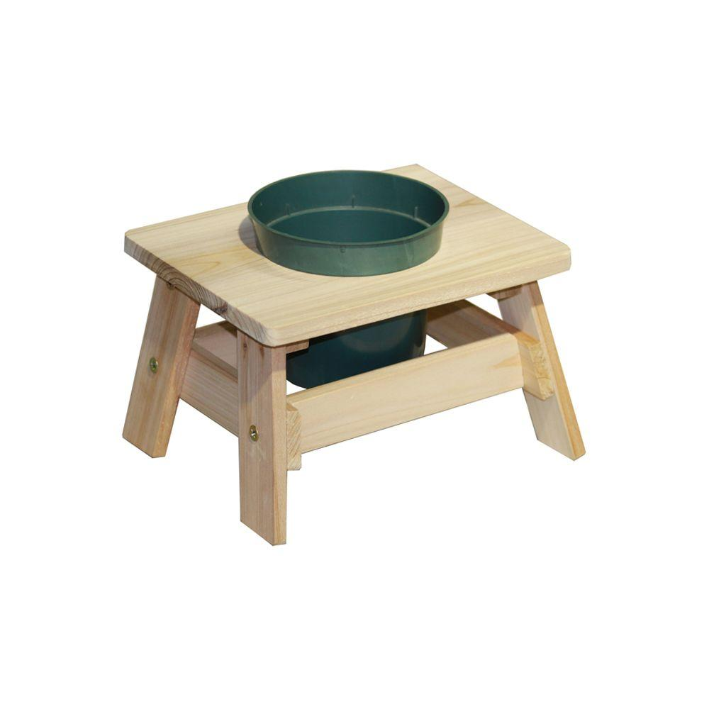 Lohasrus Mini End Table Planter in Natural 4-1/2 in. Pot Hole ...