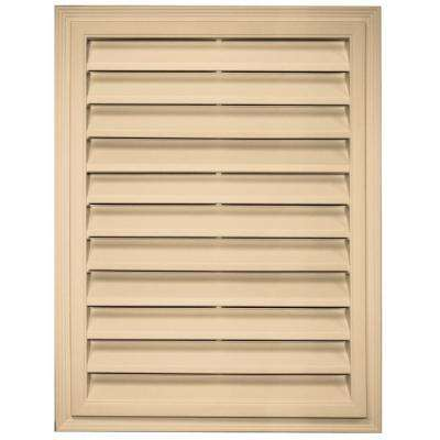 18 in. x 24 in. Rectangle Gable Vent in Sandstone Maple