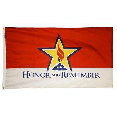 3 ft. x 5 ft. Honor and Remember Nylon Flag with Heading and 2-Grommets