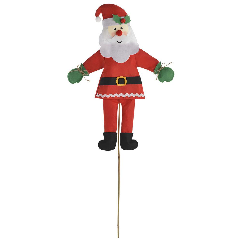 Friendly Santa 46 in. Christmas Yard Sign (2-Pack)