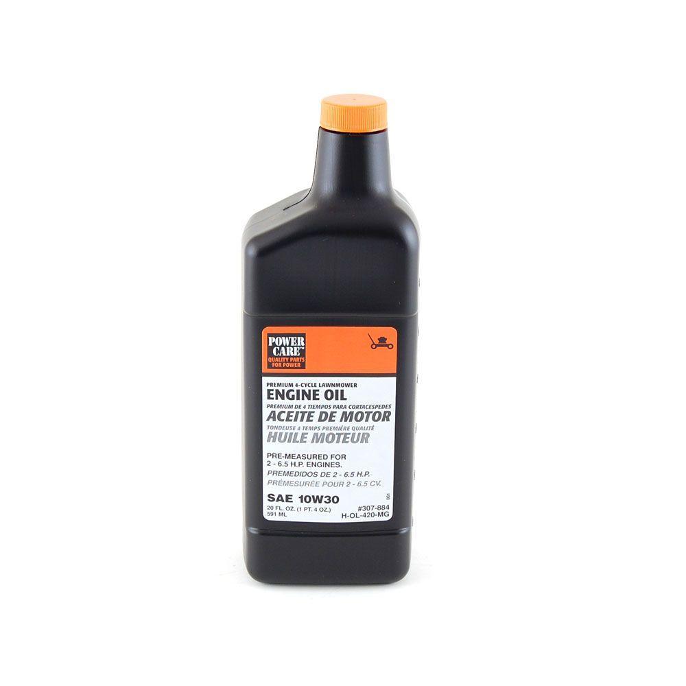 power care premium grade 20 oz 10w 30 lawn mower oil h ol 420 mg the home depot. Black Bedroom Furniture Sets. Home Design Ideas