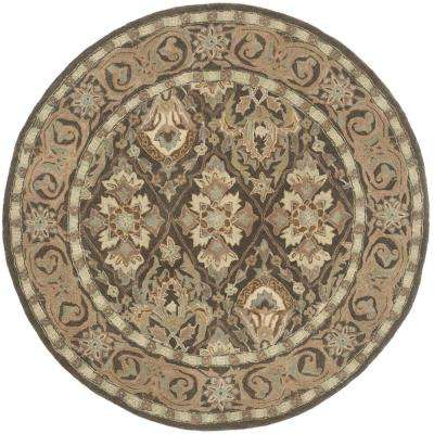 Anatolia Brown/Beige 6 ft. x 6 ft. Round Area Rug
