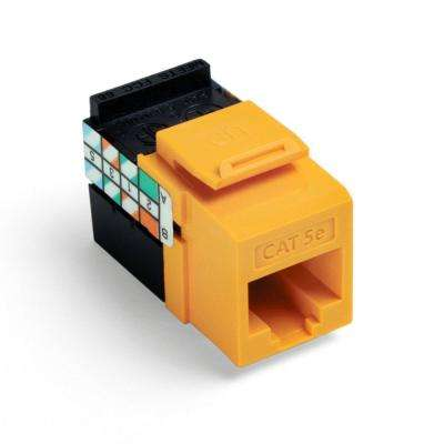 QuickPort GigaMax CAT 5e T568A/B Wiring Connector, Yellow (25-Pack)