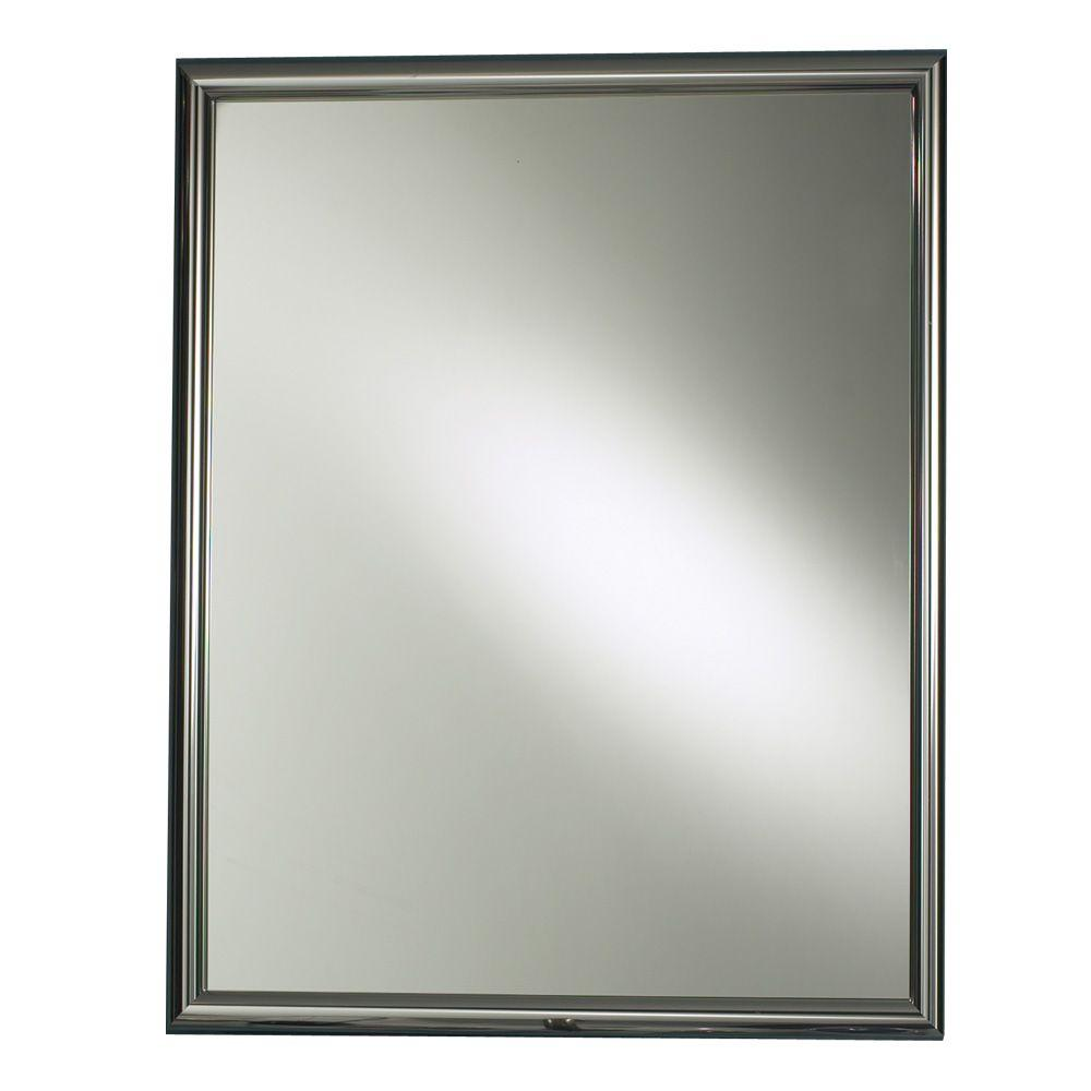 null Harmony 24 in. W x 30 in. H x 5-7/8 in. D Framed Recessed Bathroom Medicine Cabinet in Chrome
