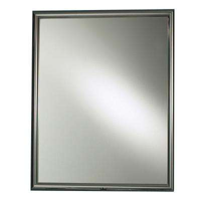 Harmony 24 in. W x 30 in. H x 5-7/8 in. D Framed Recessed Bathroom Medicine Cabinet in Chrome