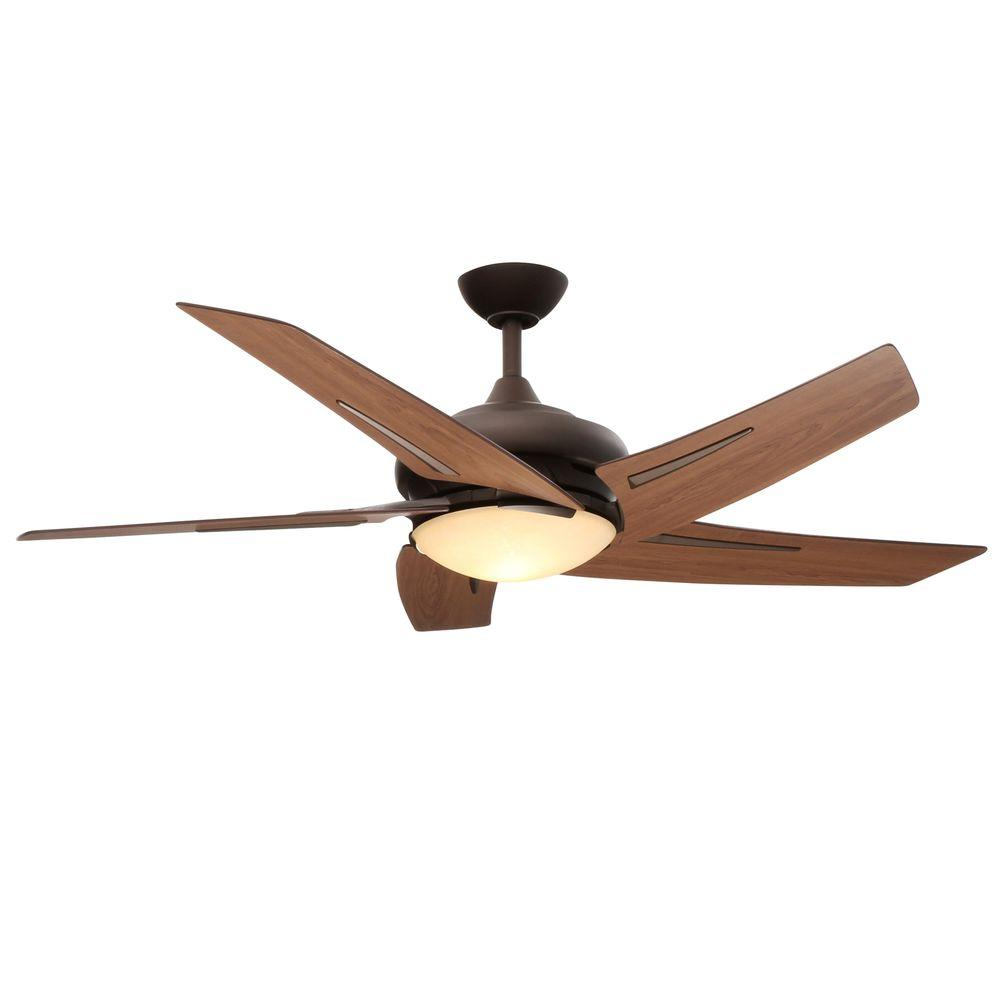Hampton Bay Sidewinder 54 in. Indoor Oil-Rubbed Bronze Ceiling Fan with Light Kit and Wall Control