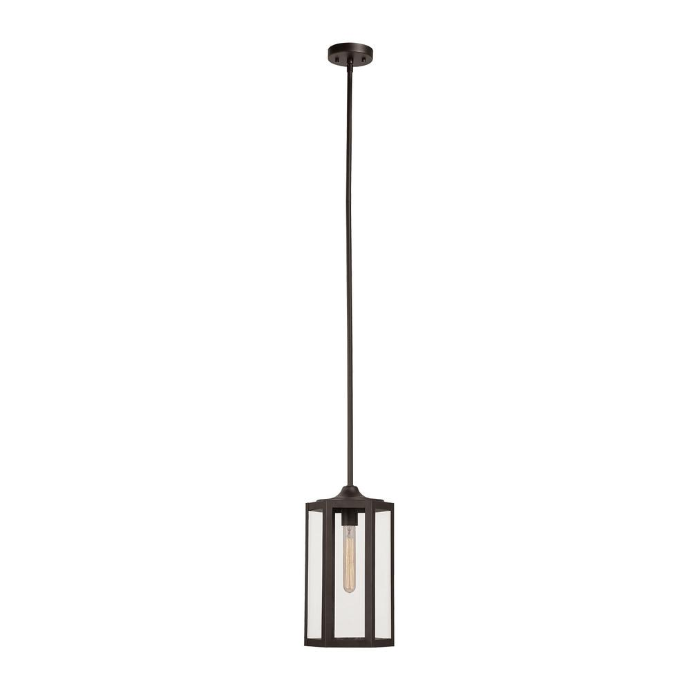 Globe Electric Marbella 1-Light Dark Bronze Pendant-65955