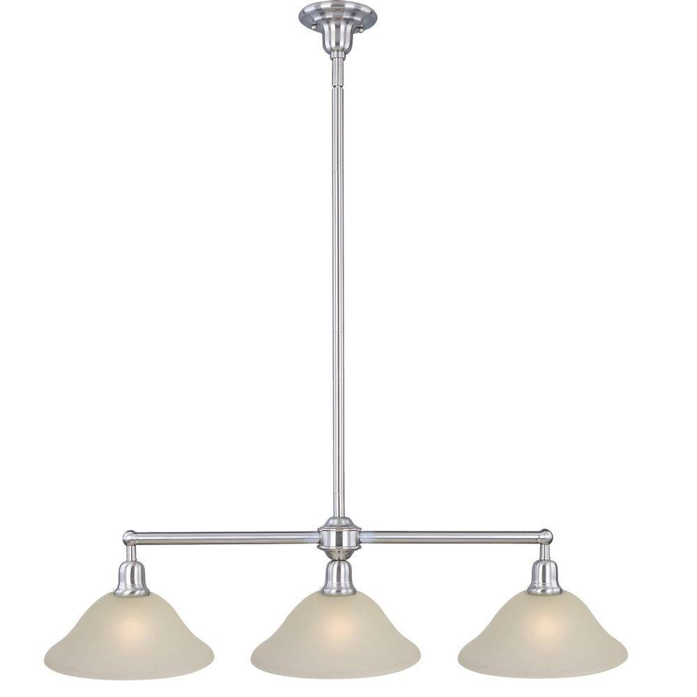 Maxim Lighting Bel Air 3-Light Satin Nickel Pendant