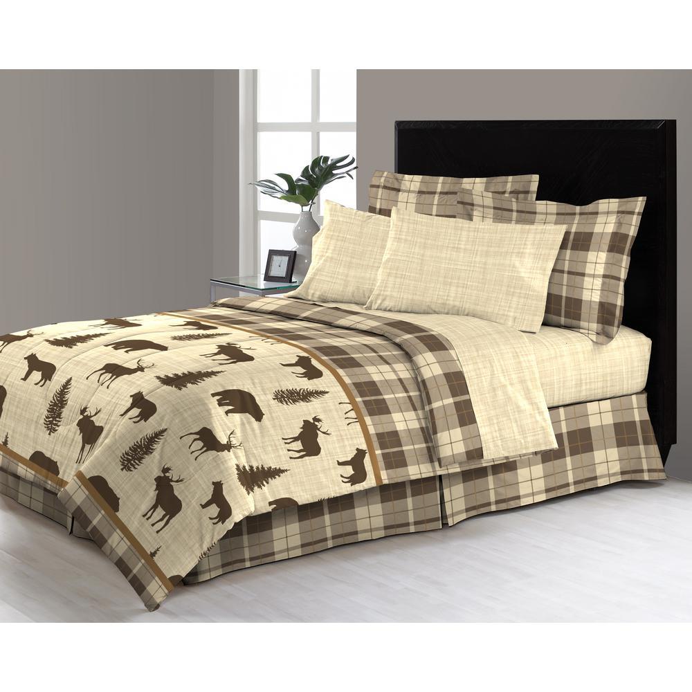 Denali 8-Piece Queen bed in a Bag Comforter Set