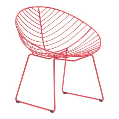 Hyde Red Metal Outdoor Lounge Chair (2-Pack)