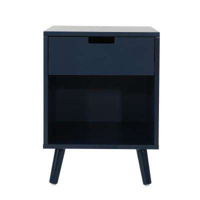 End Table Blue Mid Century Modern Accent Tables Living Room