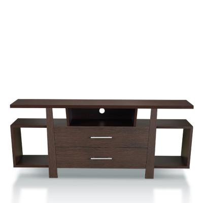 Citron 60 in. Espresso Wood TV Stand with 2-Drawer Fits TVs Up to 59 in. with Cable Management