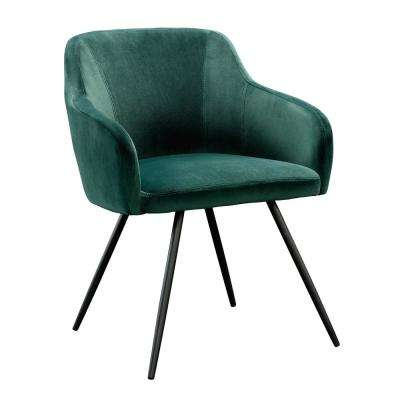 Harvey Park Emerald Green Velvet Chair
