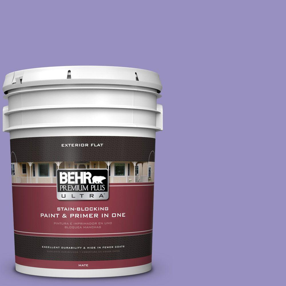 BEHR Premium Plus Ultra 5-gal. #PPU16-5 Lily Of The Nile Flat Exterior Paint