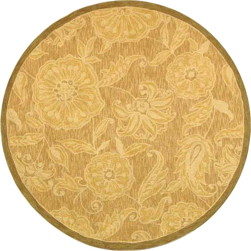 Safavieh Chelsea Light Brown 8 ft. x 8 ft. Round Area Rug