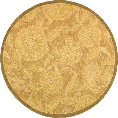 Chelsea Light Brown 8 ft. x 8 ft. Round Area Rug
