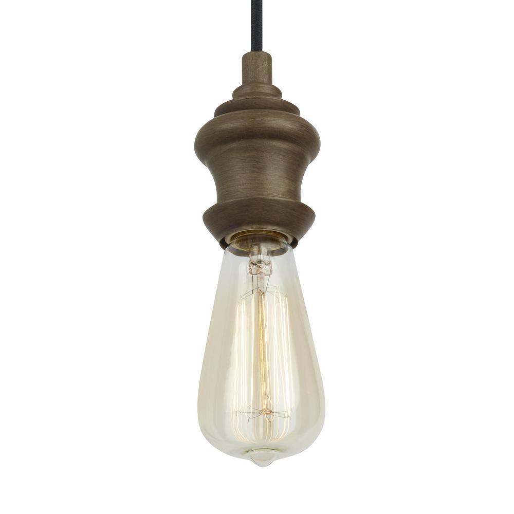 Corddello 1-Light Weathered Oak Mini Pendant