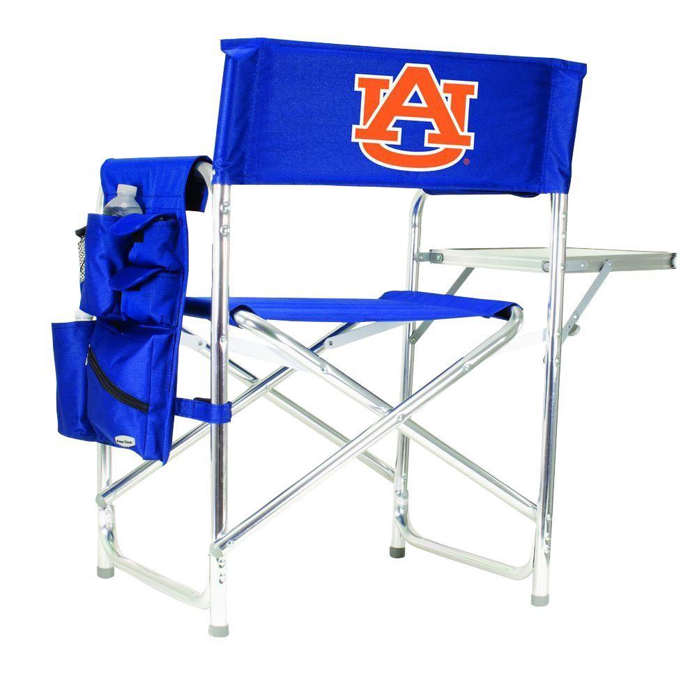 Picnic Time Auburn University Navy Sports Chair with Digital Logo