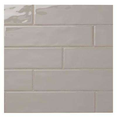 LuxeCraft Gray 3 in. x 12 in. Glazed Ceramic Wall Tile (0.25 sq. ft. / piece)