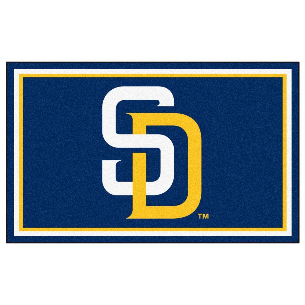 FANMATS MLB - San Diego Padres Navy Blue 4 ft. x 6 ft. Indoor Area Rug