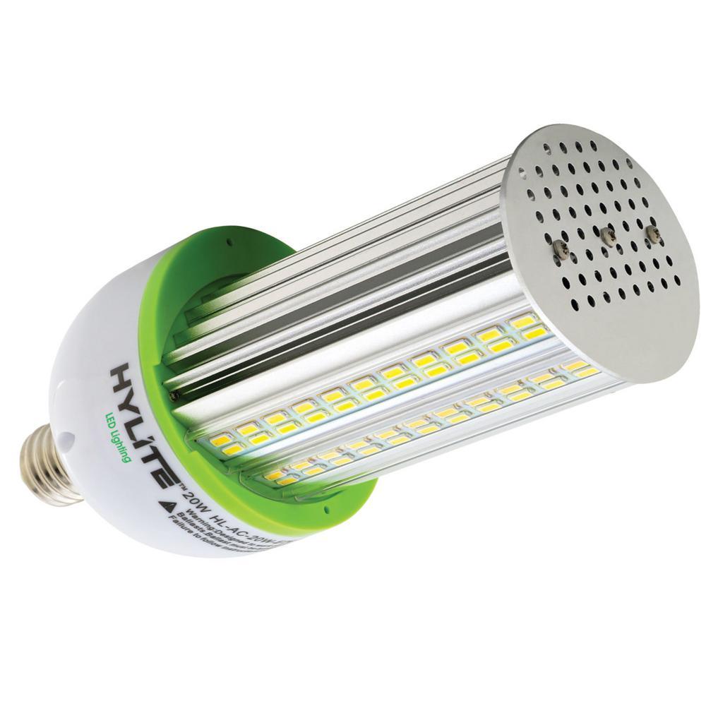 20W Arc-Cob LED Lamp 100W HID Equiv 5000K 2800 lumens Ballast Bypass 120V-277V E26 Base IP 65 UL & CE Certified