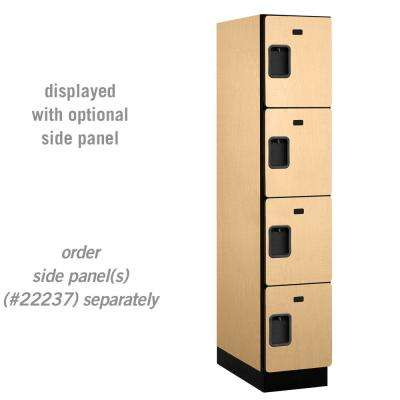 24000 Series 4-Tier 24 in. D 4-Compartments Extra Wide Designer Particle Board Locker in Maple
