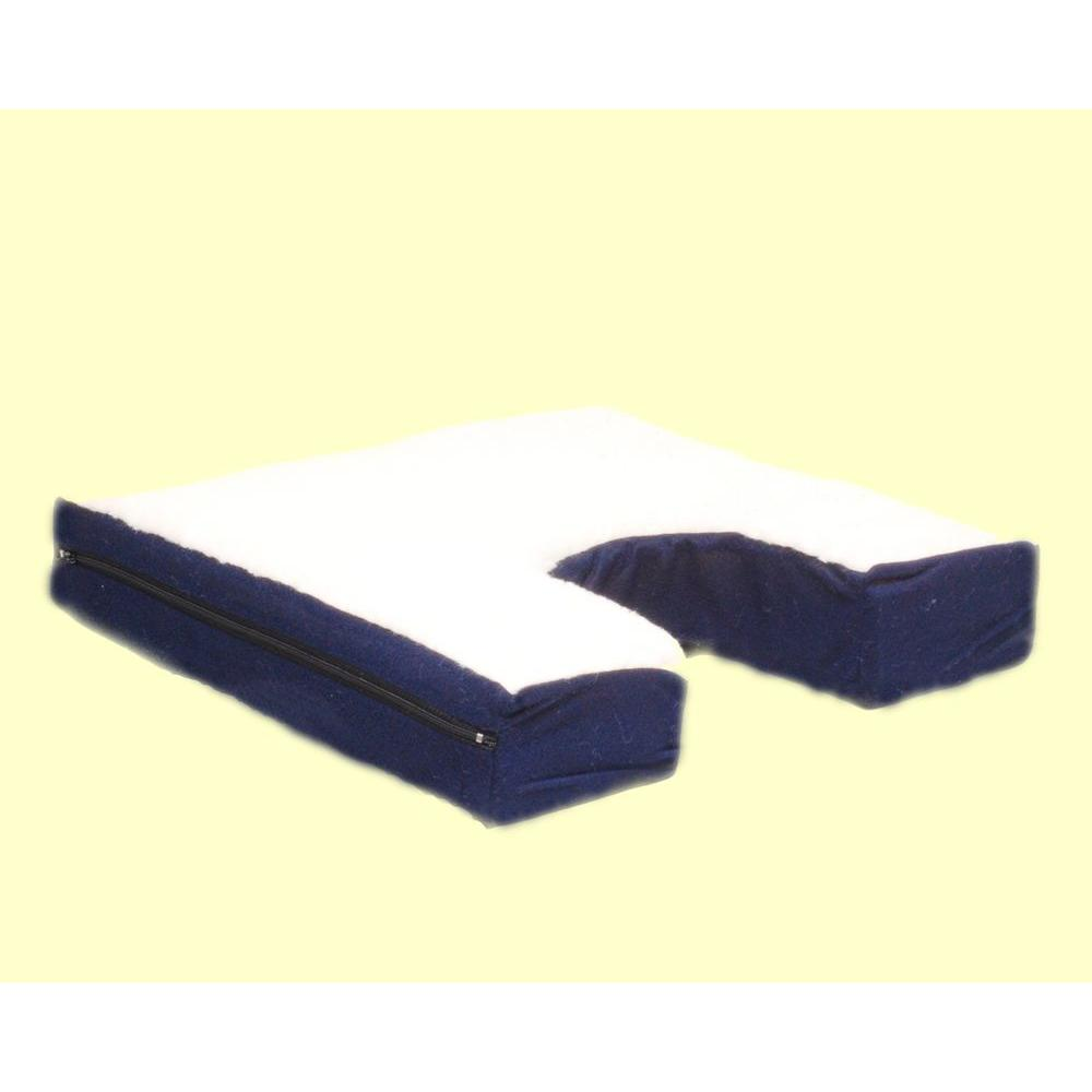 null Coccyx Seat Cushion with Gel-pad and Fleece Top