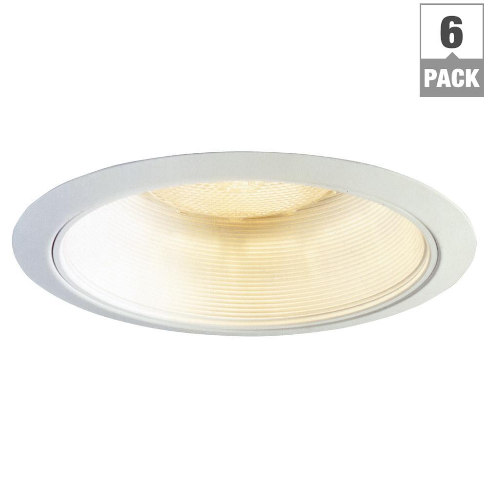 6 in. White Recessed Ceiling Light Coilex Baffle and White Trim
