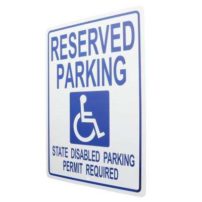 15 in. x 19 in. Plastic Handicapped Parking Tow Away Sign