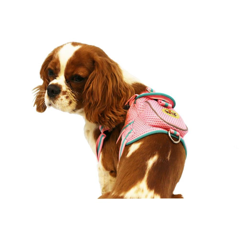Pet Life Pink Mesh Harness With Pouch Lg Ha1pwlg The