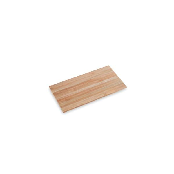 Finished Maple 4 ft. L x 25 in. D x 1.75 in. T Butcher Block Countertop