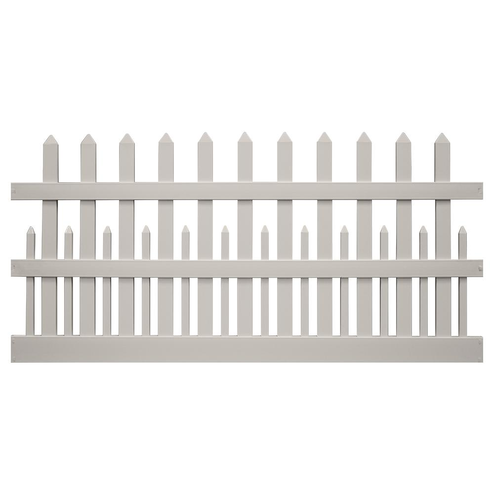 Weatherables Ashville 4 Ft H X 8 Ft W Tan Vinyl Picket