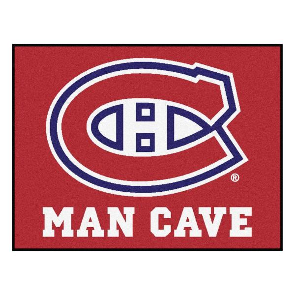 Montreal Canadiens Red Man Cave 3 ft. x 4 ft. Area Rug