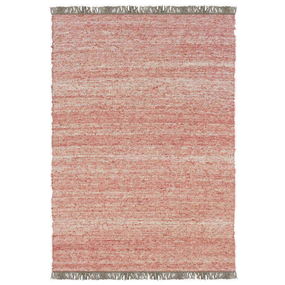 Linon Verginia Berber Red/Natural 5 ft. x 8 ft. Indoor Ar...
