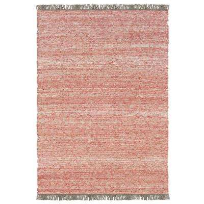 Verginia Berber Red/Natural 8 ft. x 10 ft. Indoor Area Rug