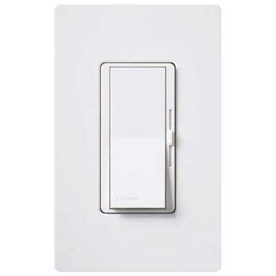Diva 600-Watt Single-Pole/3-Way Dimmer with Eco-Dimmer - White