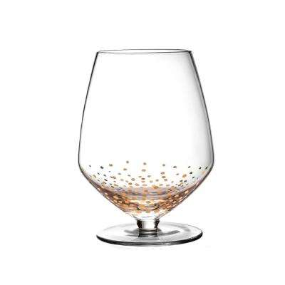 4-Piece Gold Luster Pinot Noir Wine Glass Set