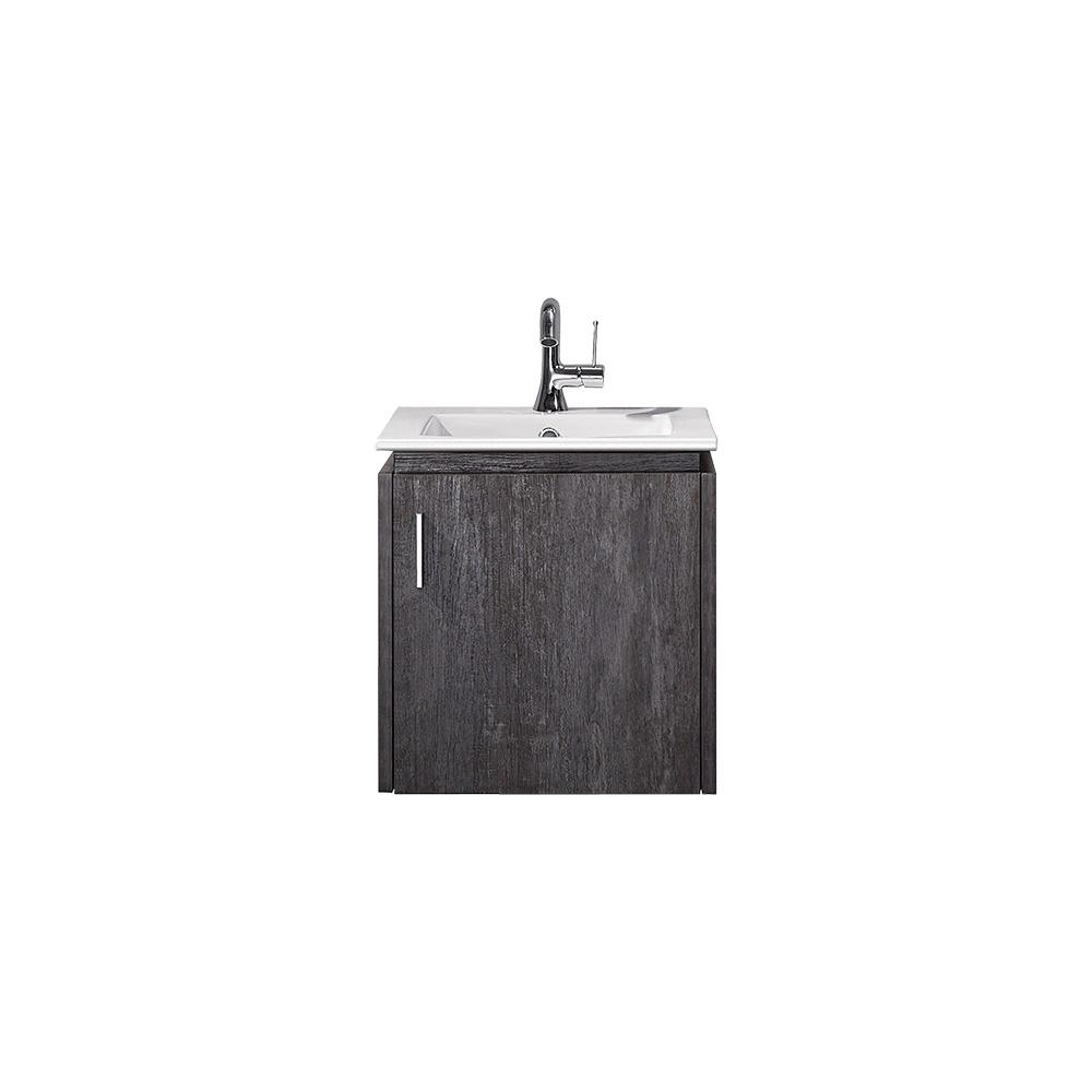 ROSWELL Aosta 16 in. W x 16 in. D Bath Vanity in Elegant Grey with Vanity Top in White with White Drop-In Porcelain sink