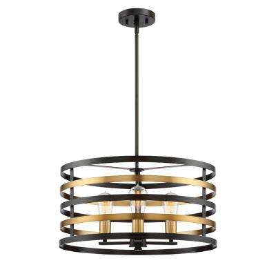 Mya 3-Light Antique Bronze Pendant